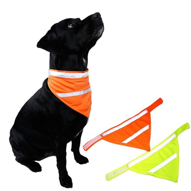 Reflective Bandanna for dogs keeps them save at night