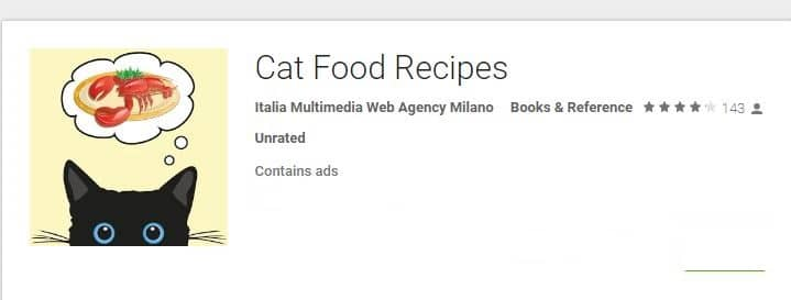 app for cat food recipes
