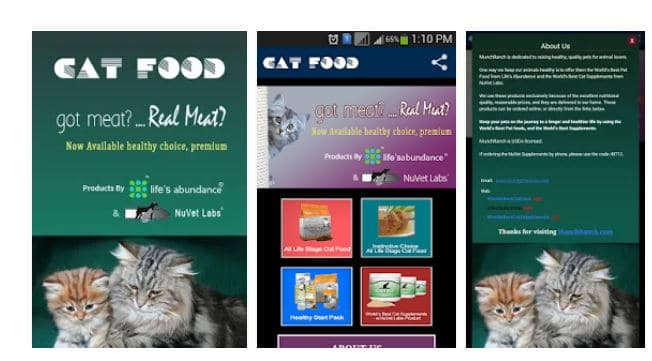cat food app what is in cat food