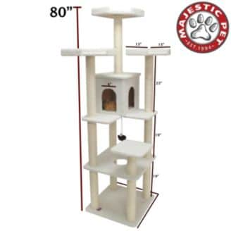 Cat scratch penthouse pole
