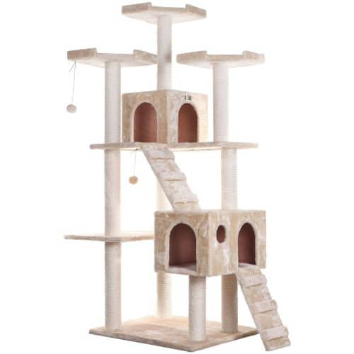 Armarkat Classic Cat Tree Model A7401 74in Beige