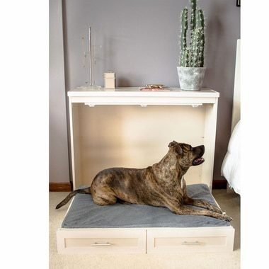 new-age-pet-murphy-style-bed-with-memory-foam-cushion-antique-white