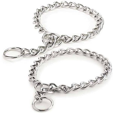 Metal chain dog collar
